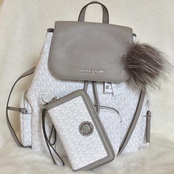 Michael Kors Handbags - Michael Kors (3pcs) Abbey LG Cargo Backpack
